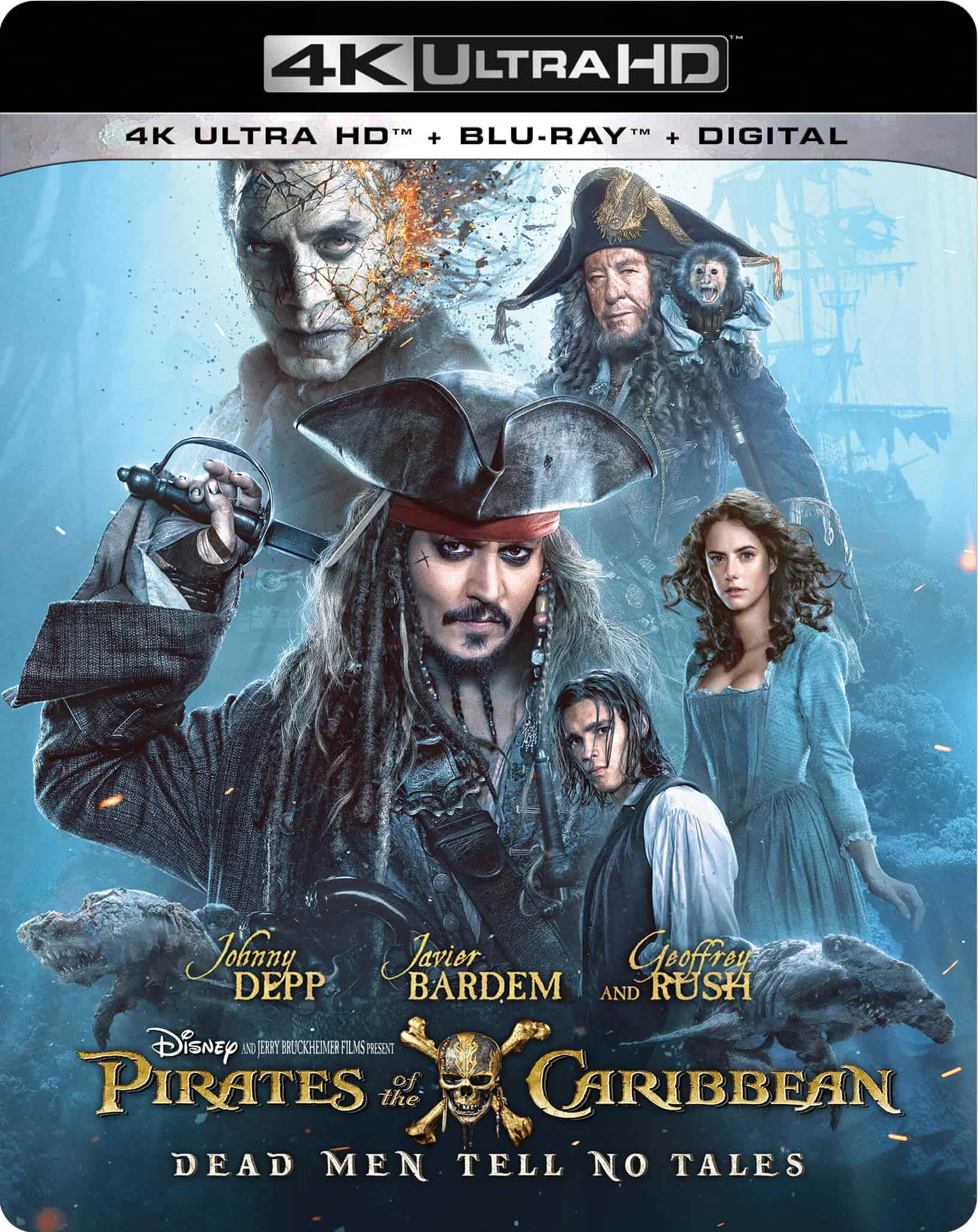 Pirates of the Caribbean Dead Men Tell No Tales 4K 2017